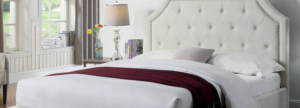 Queen-Size Upholstered Platform Bed
