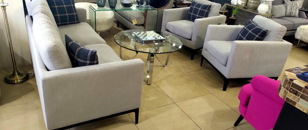Sleek and Chic Sofa & 2 Chairs