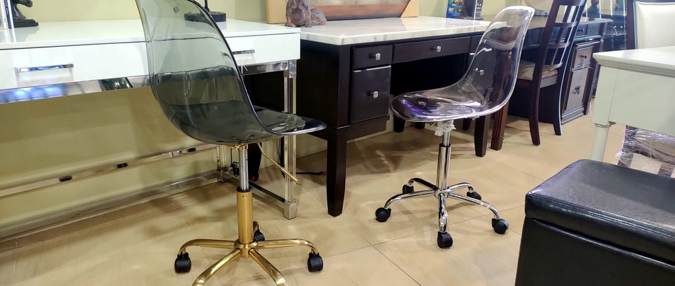 Acrylic Rolling Office Chairs