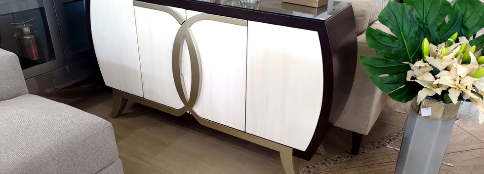 4-Door Cabinet w/ Curved Sides