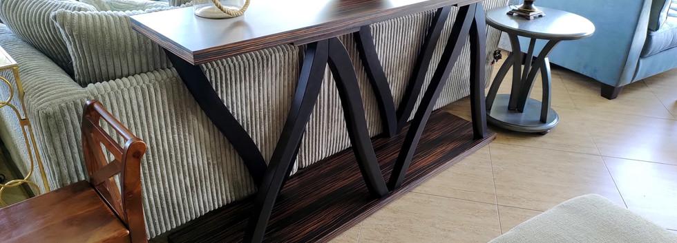 Large Zebrawood Console Table