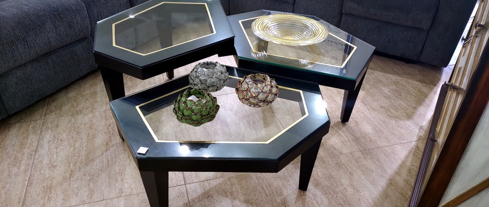 Multi-Level Cocktail Table w/ Glass Top
