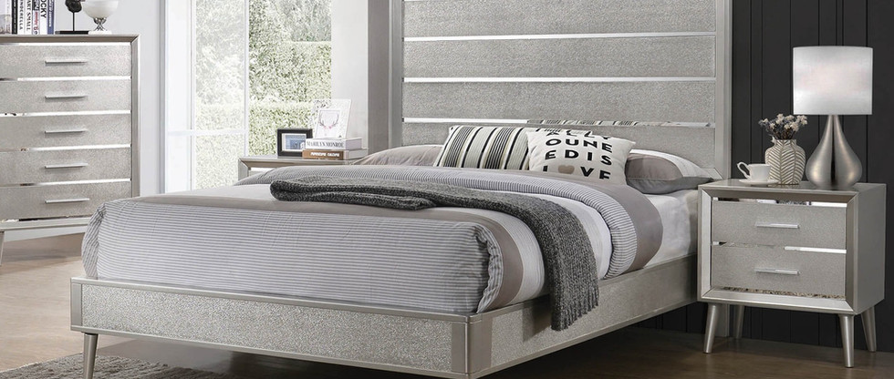 Glam-Style Queen-Size Bed