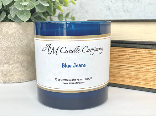 Luxe Collection Blue Jeans Candle, Coconut Soy Wax, Unisex Candle