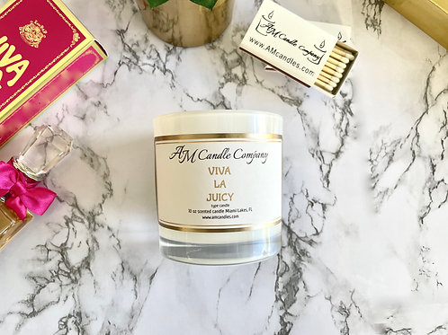 NEW Luxe Collection Viva La Juicy Type Candle, Coconut Soy