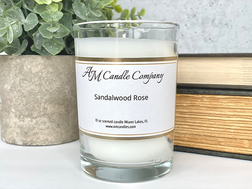 Luxe Collection Sandalwood Rose Candle, Coconut Soy