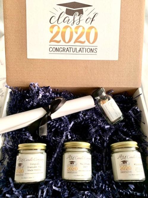 GRADUATION GIFT BOX Candle Bundle Premium Coconut Soy Blend Candles