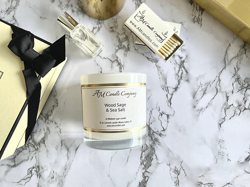 NEW Luxe Collection Wood Sage & Sea Salt Candle