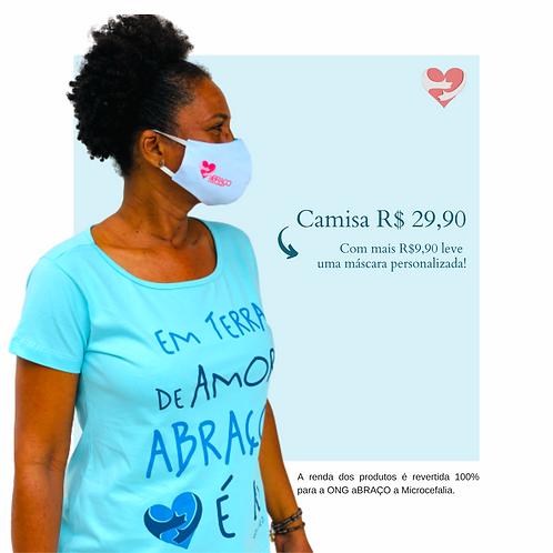 Camisa Em Terra de Amor Abraço é Lei - Feminina