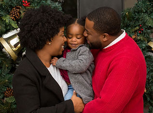 African American Family at Christmas..jp