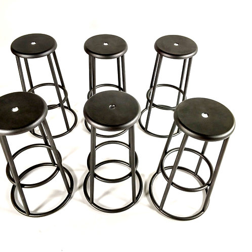 Zeus Industrial Barstools - 6 Set