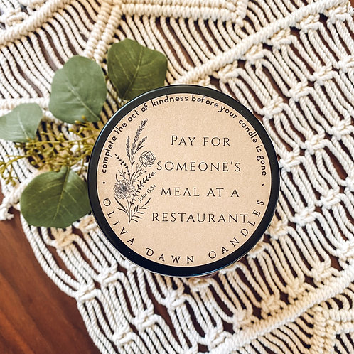 Pay for Someone's Meal at a Restaurant