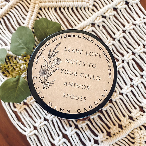 Leave Love Notes for your Spouse or Child(ren)