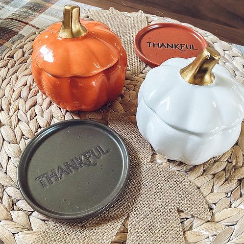 Pumpkin Jar w/ Lid