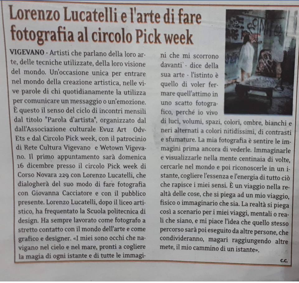 La Lomellina Parola d'artista Lucatelli
