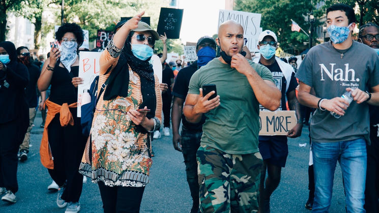 blm protest raleigh nc june 2020