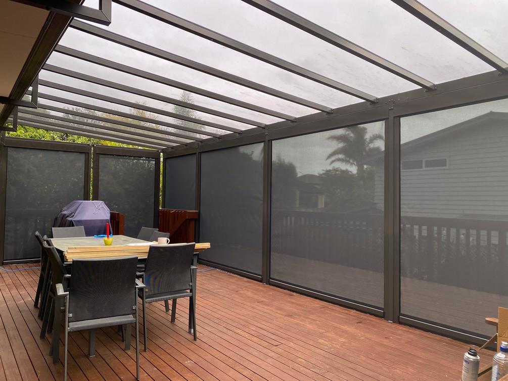 Grey Tint Acyrlic Canopy and Mesh Screens