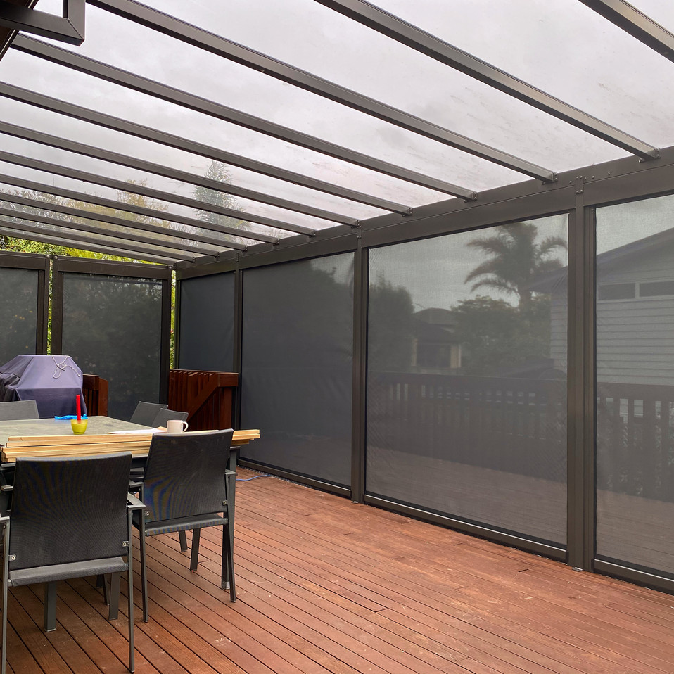 Grey Tint Acyrlic Canopy and Mesh Screens