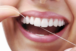 periodontia, fio dental