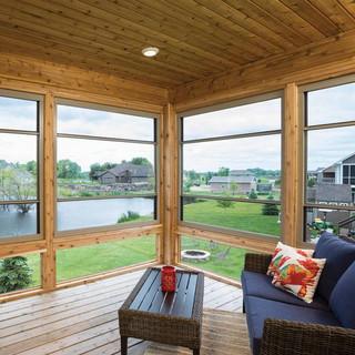 Expanse  Porch Windows Overlooking Pond