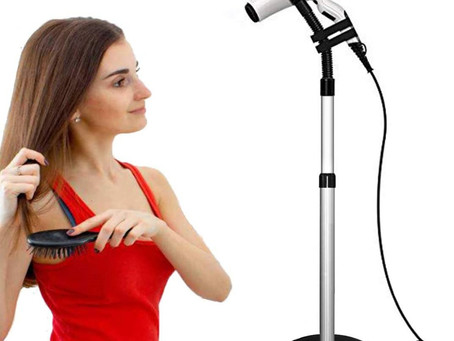 Hands-Free Hair Drying Stand