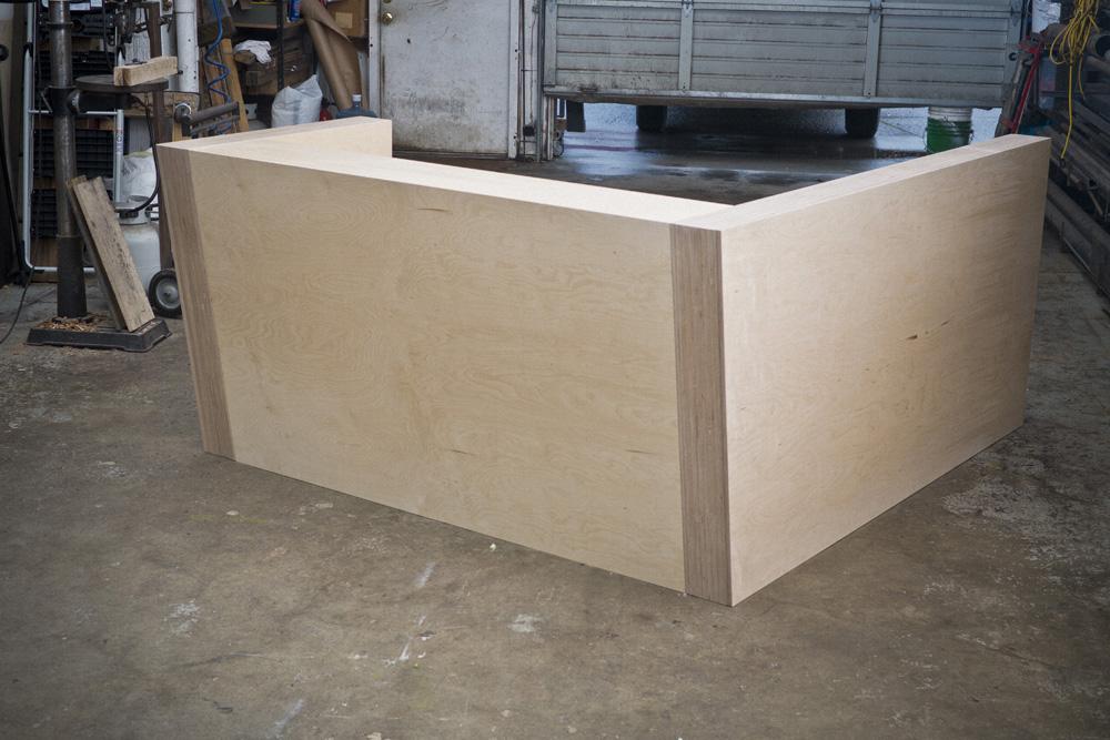 ADA Plywood Reception Desk