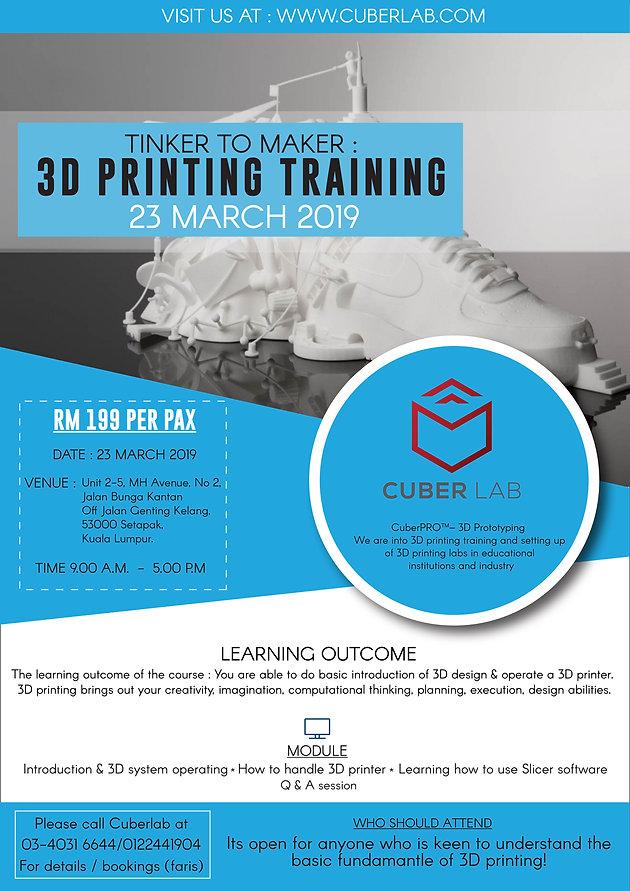 3D PRINTING TRAINING!