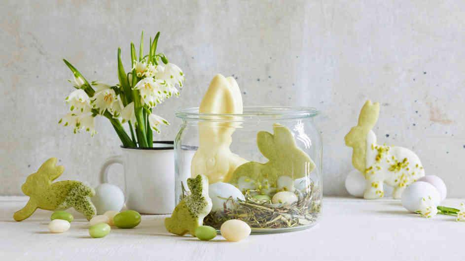Matcha-Hasen für Ostern