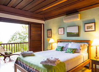 Breathtaking view of our room at Casa Vermelha Guest House Ilhabela
