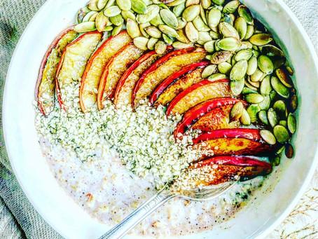 Sautéed Apple Cinnamon Oatmeal