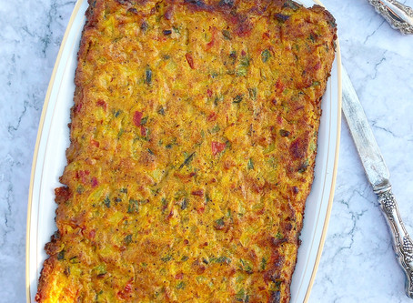 Potato, Green Bean and Tomato Frittata (Persian Kookoo)