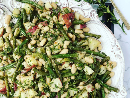 Cannellini, Green Bean & Potato Salad with Fresh Dill