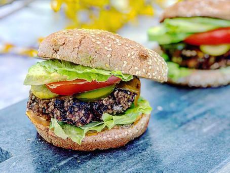 Black Bean Quinoa & Walnut Veggie Burgers