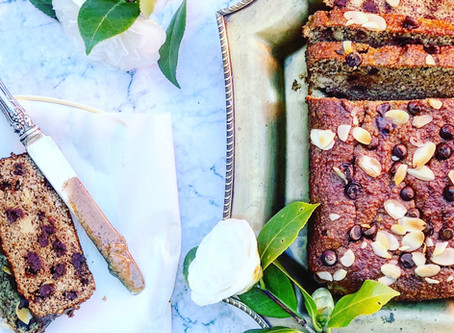 Banana Bread Chocolate Cake with Almond Flour