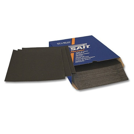 50 Feuilles Abrasives Carbure de Silicium 140 x 230 mm