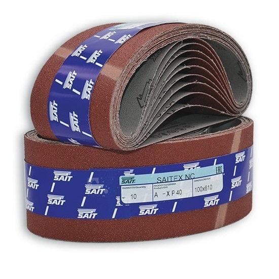 10 Bandes Abrasives Sait 110 x 620 mm
