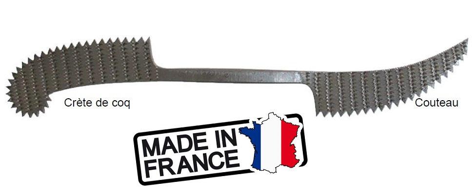 Éperon à Marbre Crète de coq / Couteau