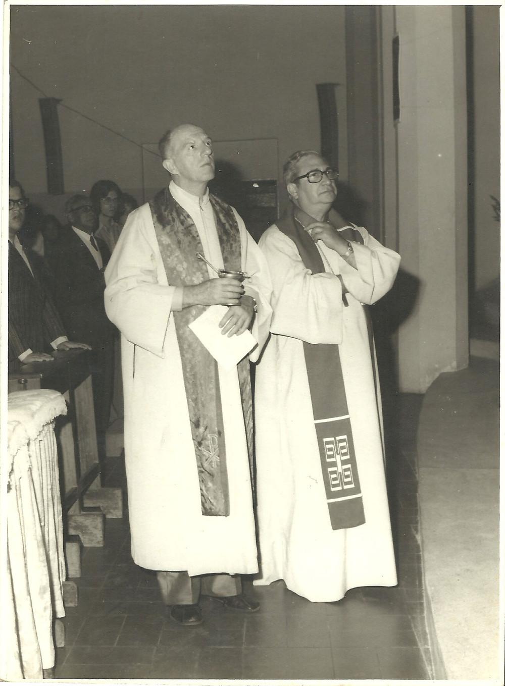 Padre Benno e Dom Jorge Marcos de Oliveira