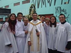 Cerimoniários e Padre Tiago Silva