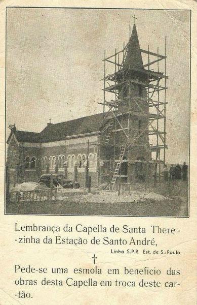 Construção da Capela de Santa Teresinha, no final dos anos 1930