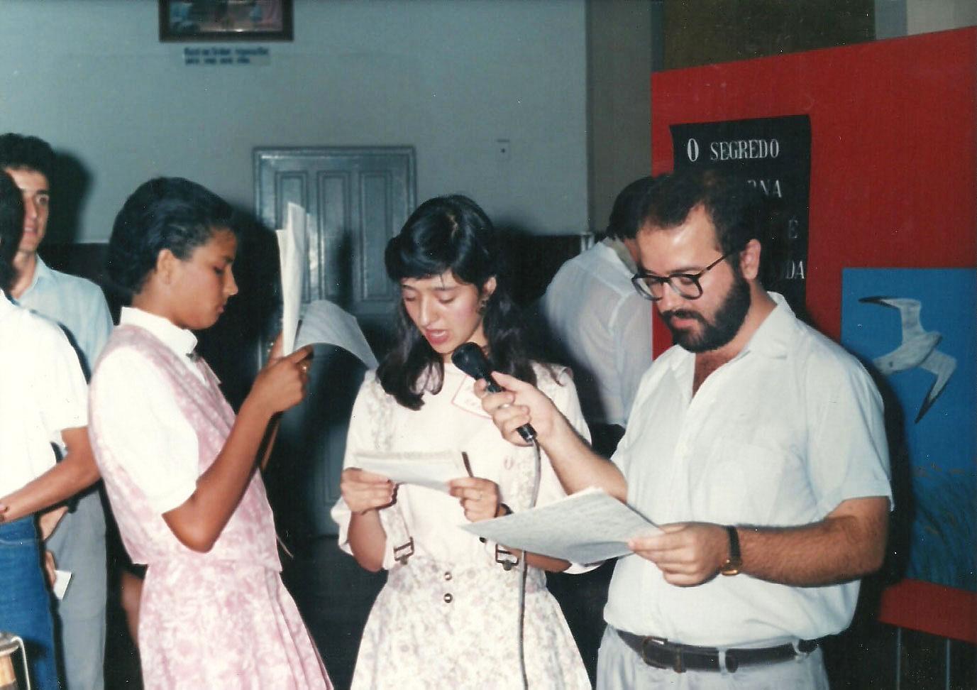 1990 - Crisma - Pe. Wagner e Dom Claudio Hummes (1)