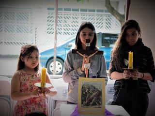 Catequese, Coroinhas e Perseverança realizam Via-Sacra das Crianças