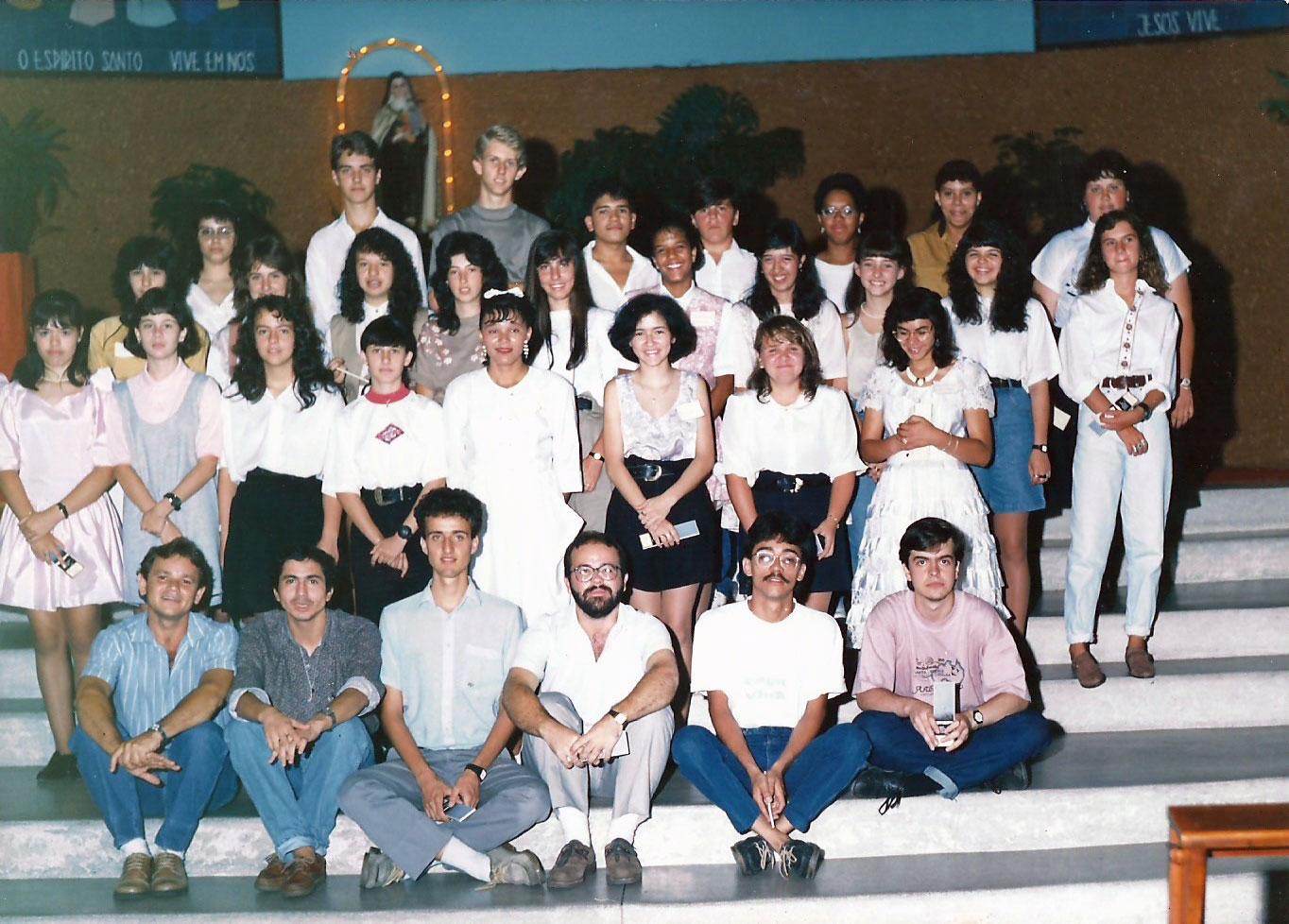 1990 - Crisma - Pe. Wagner e Dom Claudio Hummes (4)