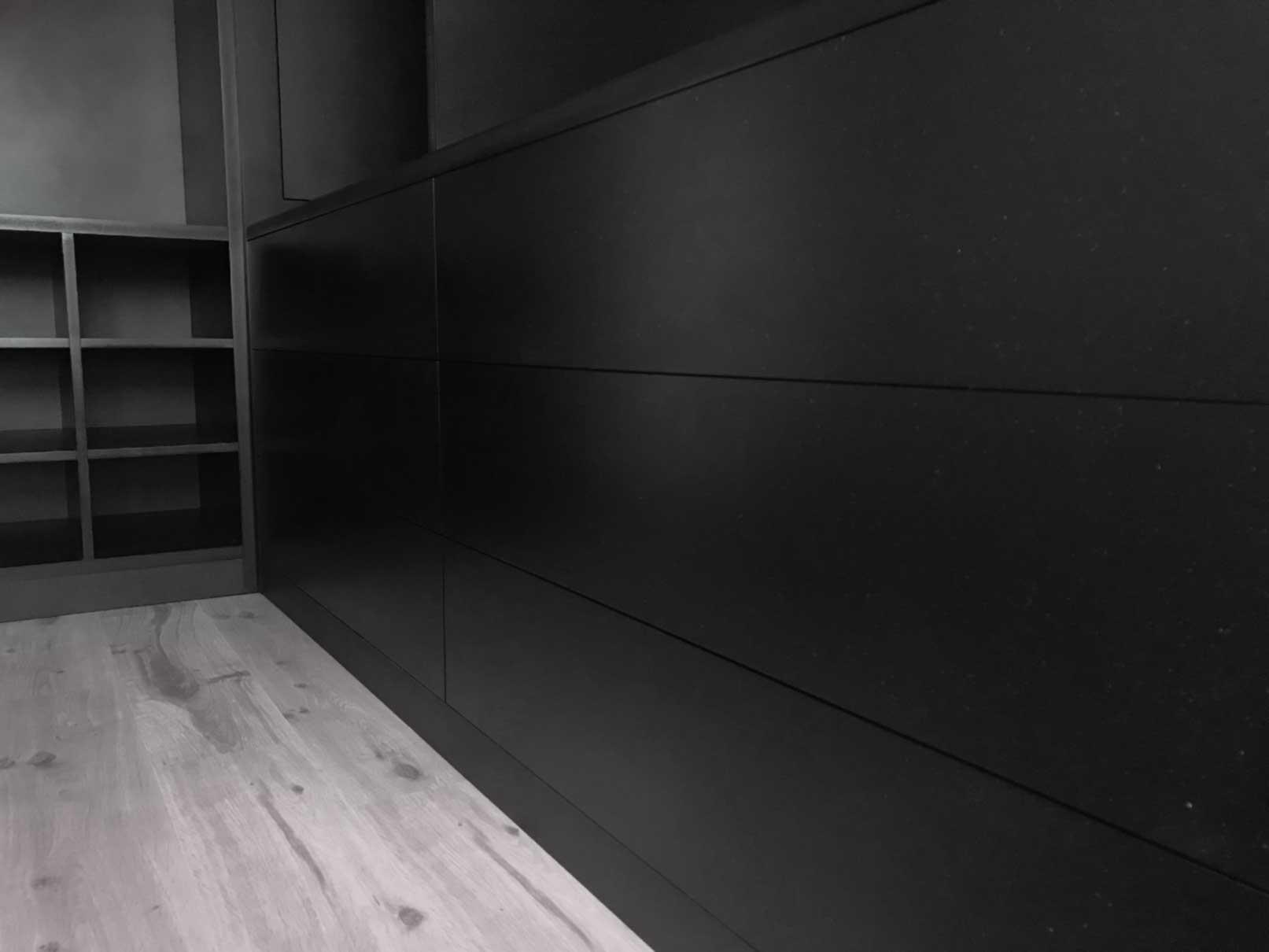 Dressing ouvert sur mesure noir