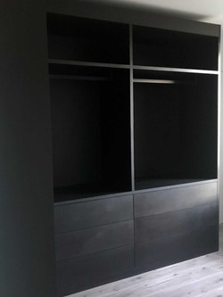 Dressing ouvert sur mesure noir mat