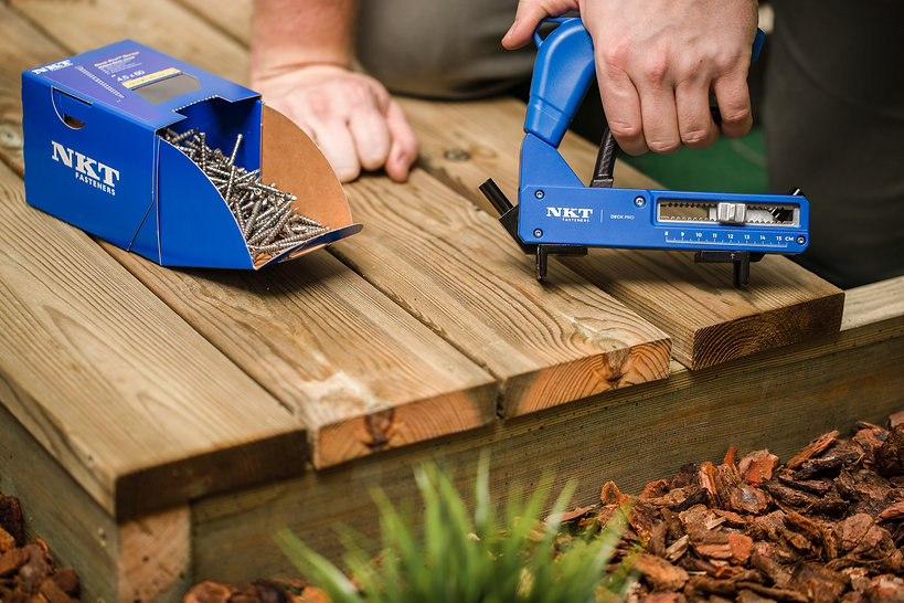 Deck pro - tool for hidden decking screws, easy system for decking, materials for making a deck