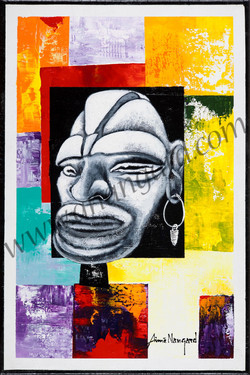 Masque papou 40x60