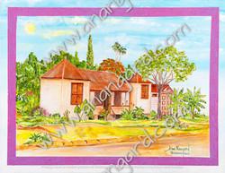 La petite calédonienne rue Lamartine (50x65)