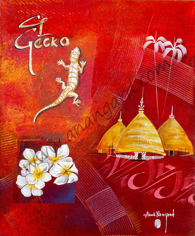 El gecko (50x60)