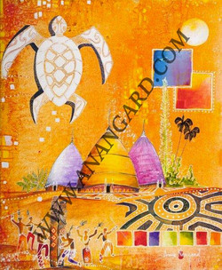 Tortue blanche 60X73
